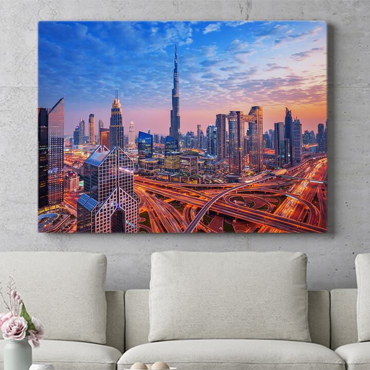 Personalisierbares Geschenk Dubai Skyline