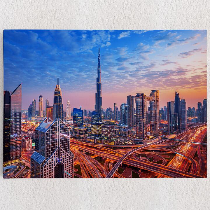 Personalisiertes Leinwandbild Dubai Skyline