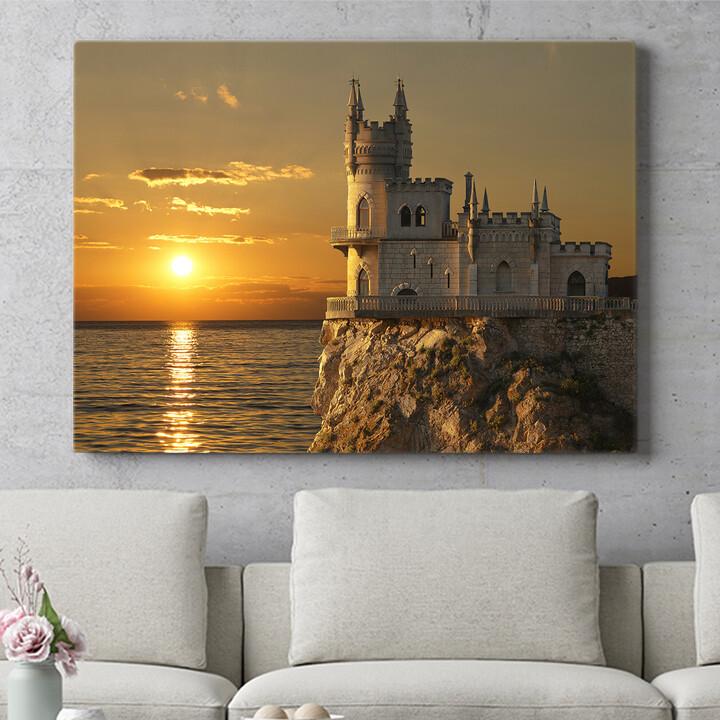 Personalisierbares Geschenk Schloss Schwalbennest Krim