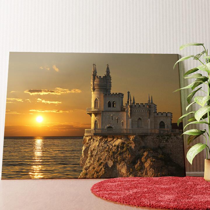 Personalisiertes Wandbild Schloss Schwalbennest Krim