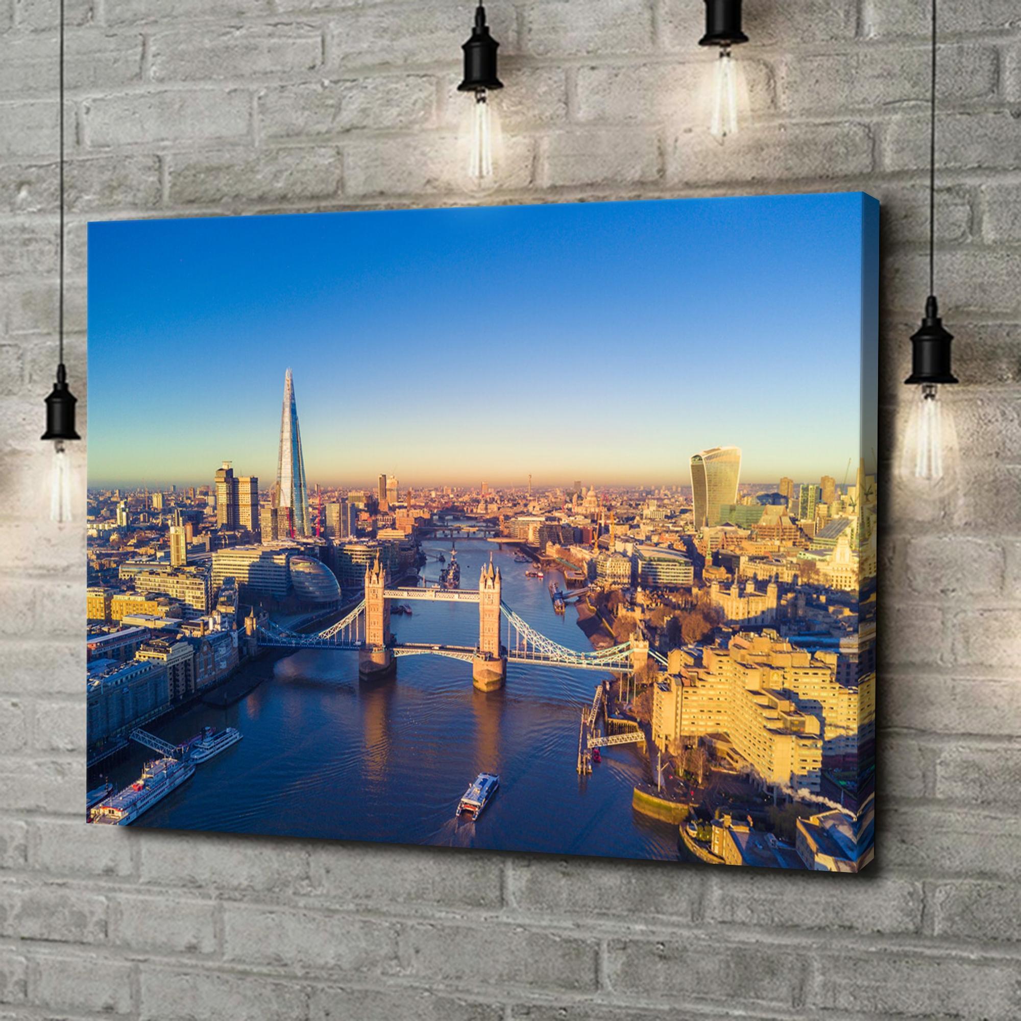 Leinwandbild personalisiert London Bridge Luftaufnahme
