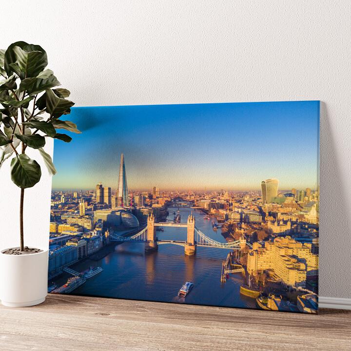 London Bridge Luftaufnahme Wandbild personalisiert