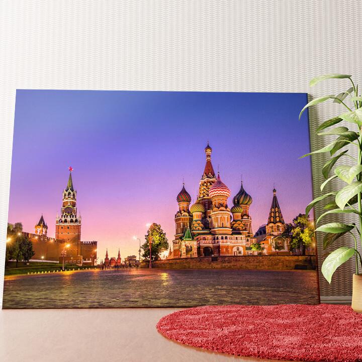 Personalisiertes Wandbild St. Basil Kathedrale Moskau