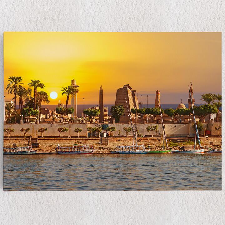 Personalisiertes Leinwandbild Nil bei Sonnenuntergang
