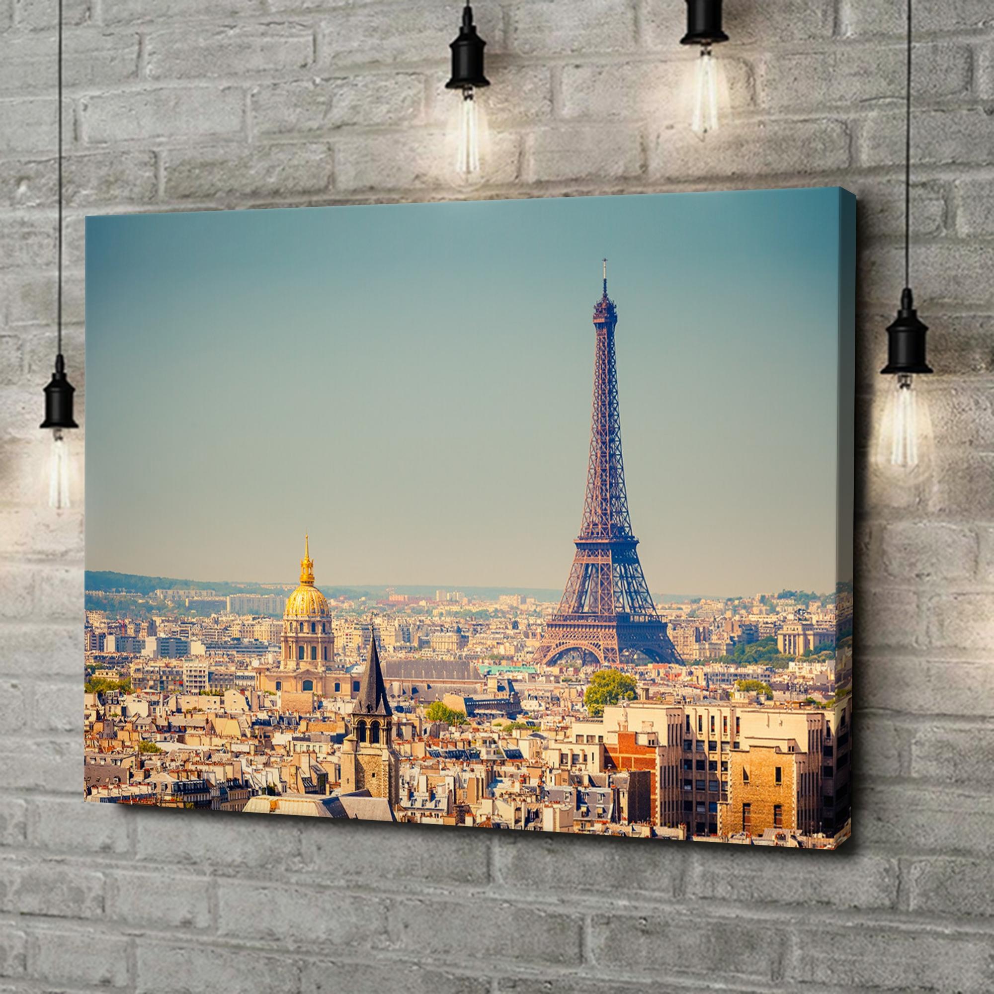 Leinwandbild personalisiert Paris Skyline