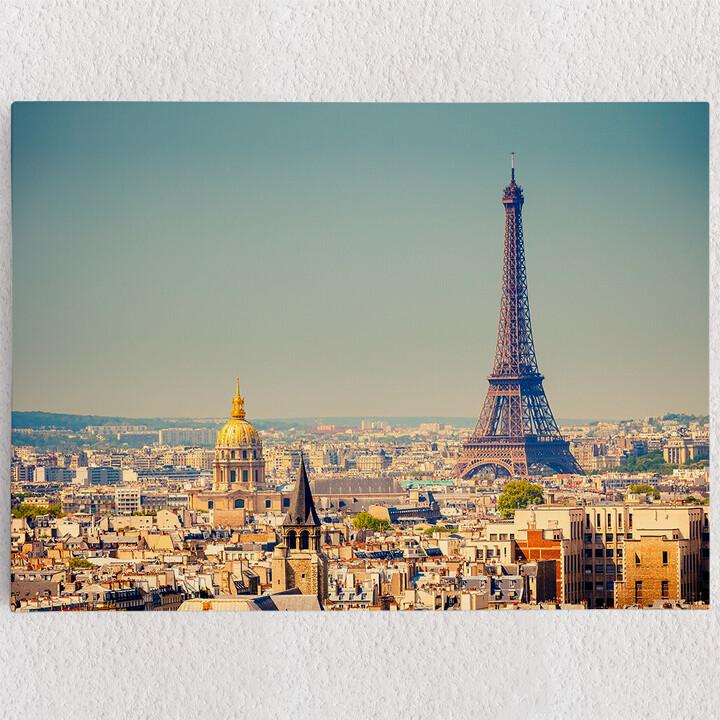 Personalisiertes Leinwandbild Paris Skyline