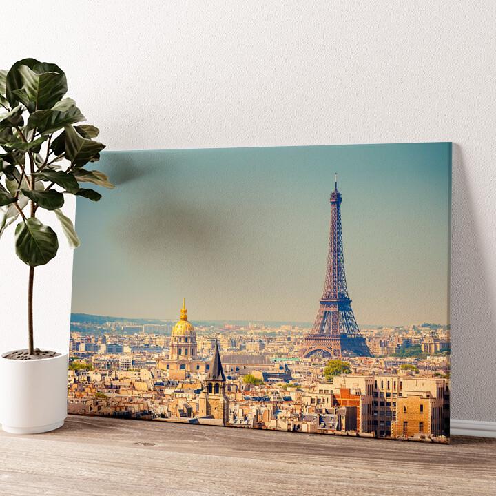 Paris Skyline Wandbild personalisiert