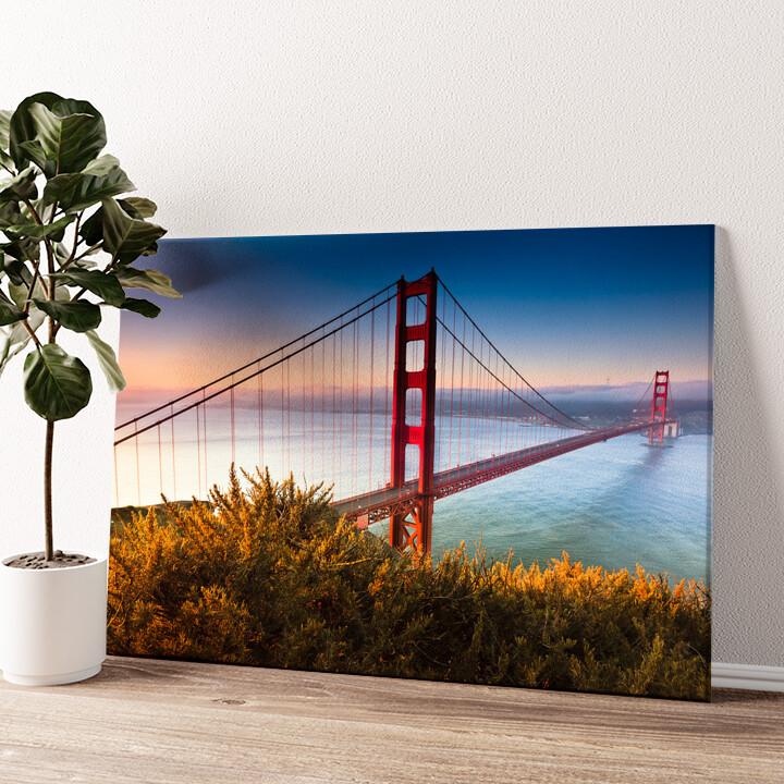 San Francisco Golden Gate Bridge Wandbild personalisiert