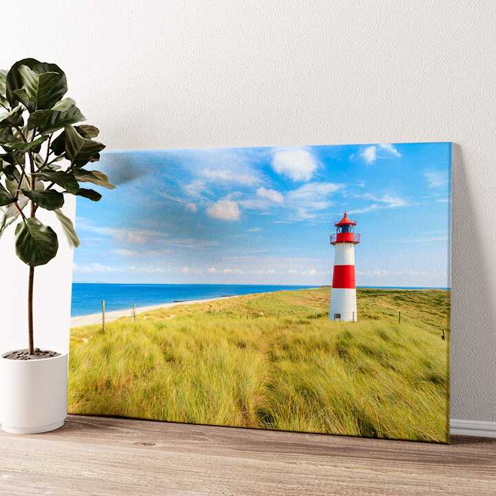 Leuchtturm auf Sylt Wandbild personalisiert