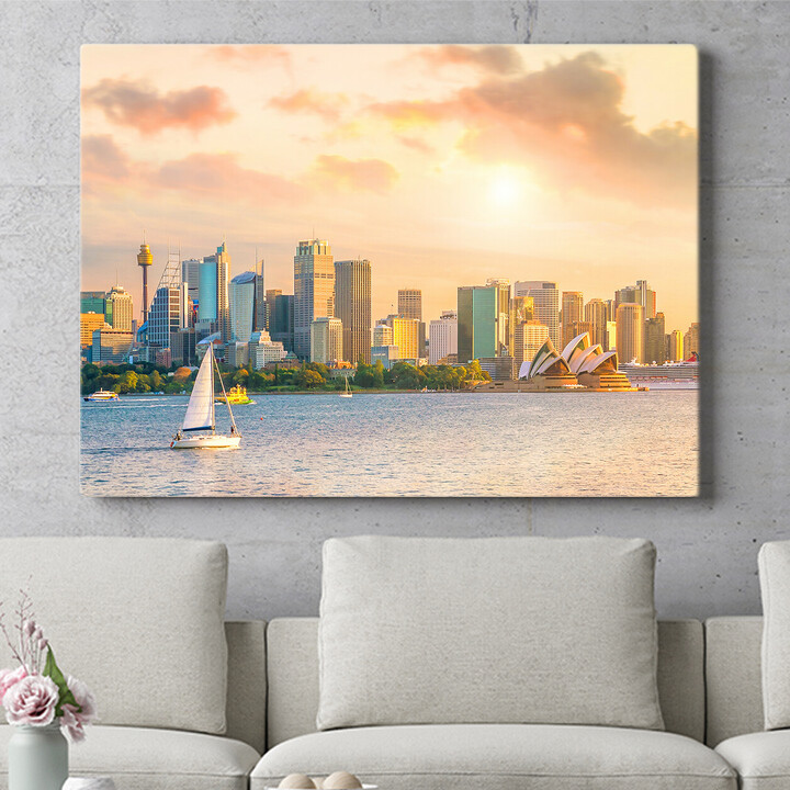 Personalisierbares Geschenk Sydney Skyline