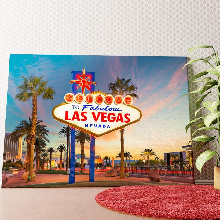 Personalisiertes Wandbild Las Vegas