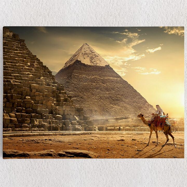 Personalisiertes Leinwandbild Pyramiden