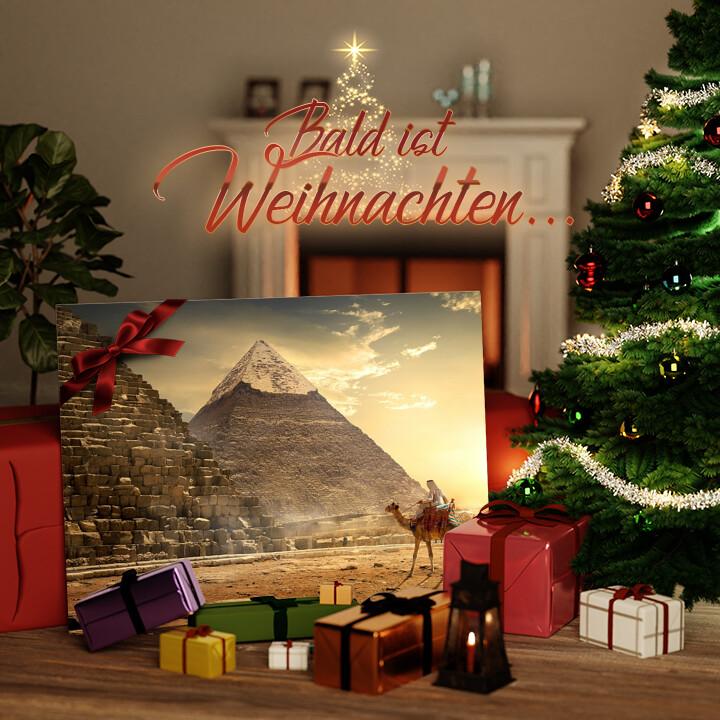 Liebesleinwand zu Weichnachten Pyramiden