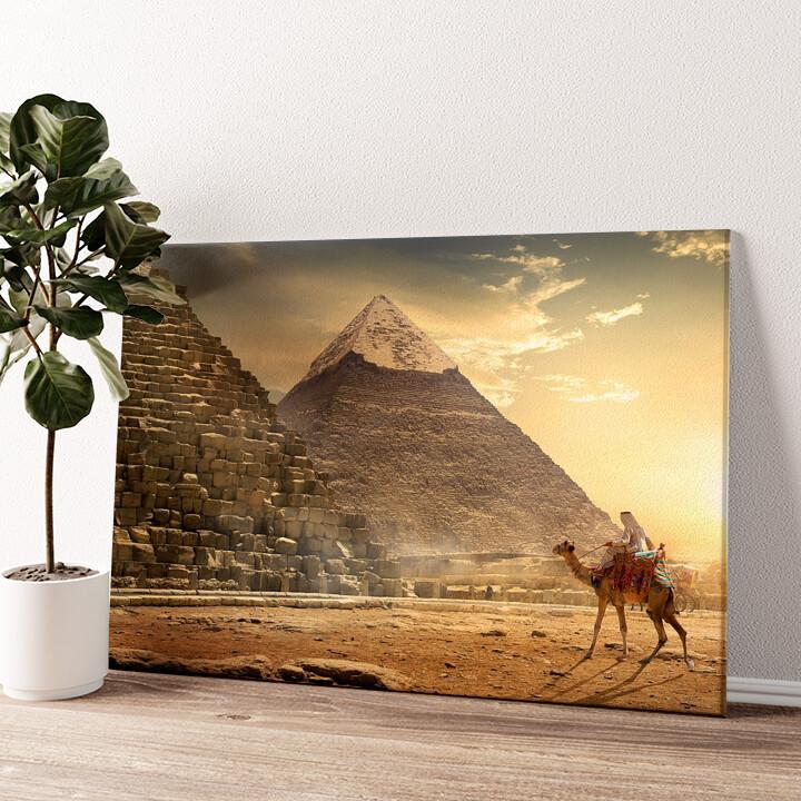 Pyramiden Wandbild personalisiert