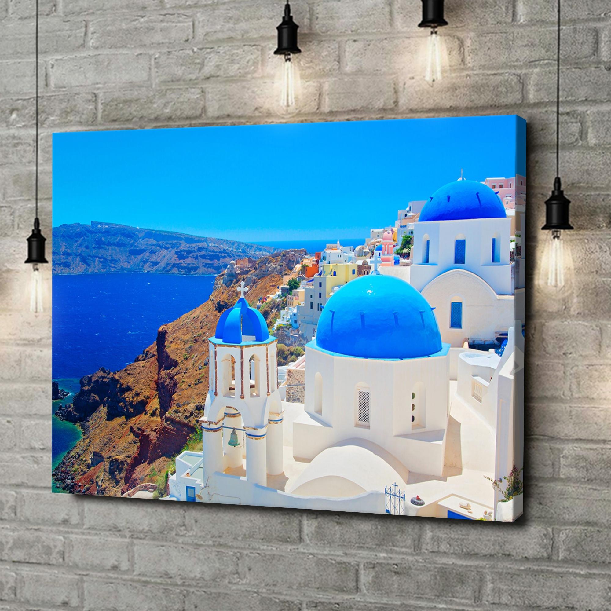 Leinwandbild personalisiert Santorini