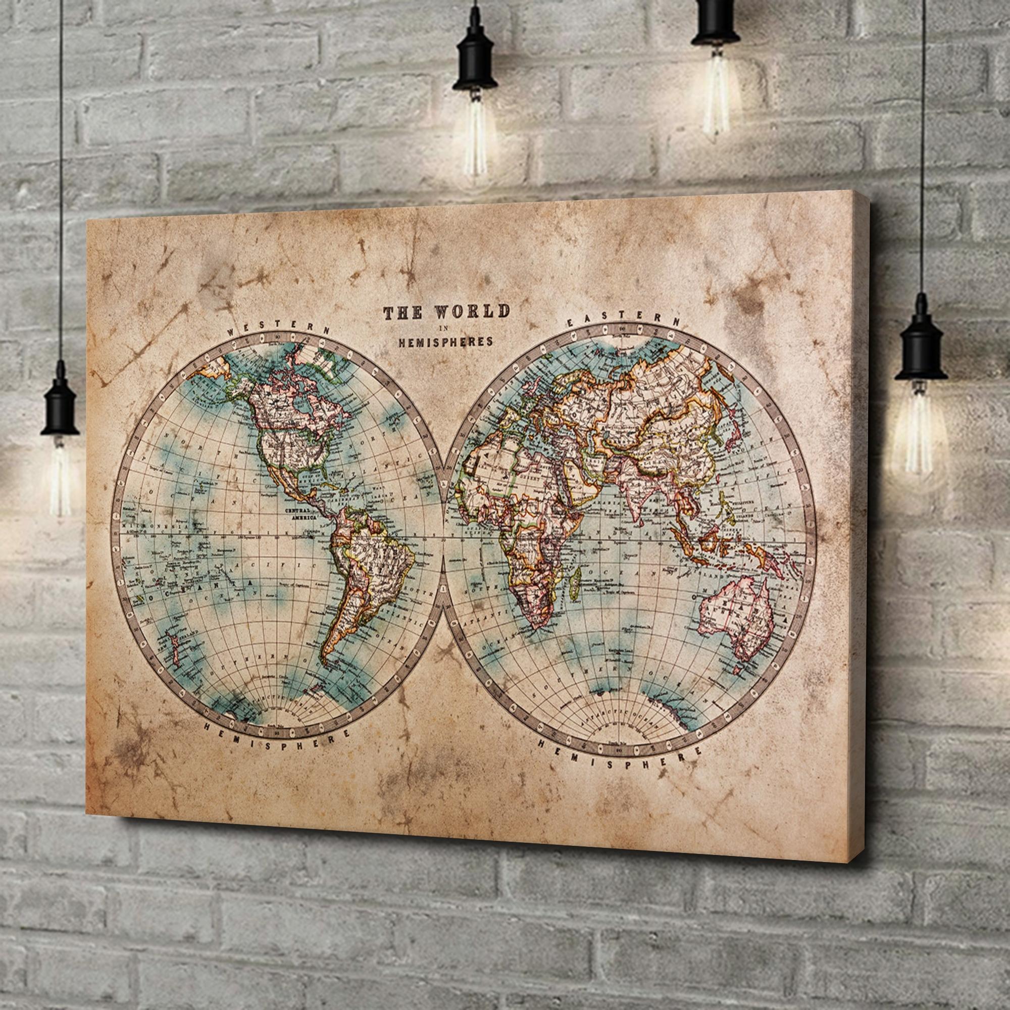 Leinwandbild personalisiert Weltkarte