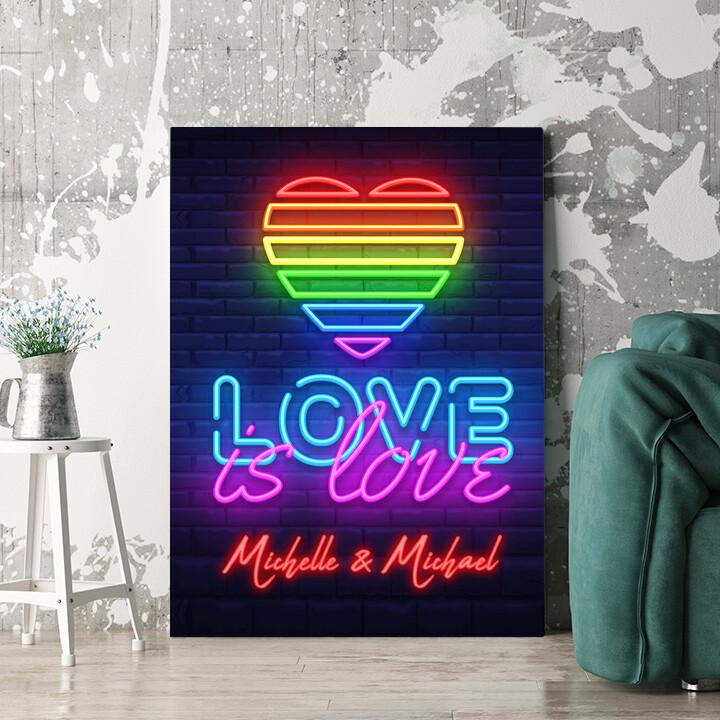 Personalisierbares Geschenk Love Is Love