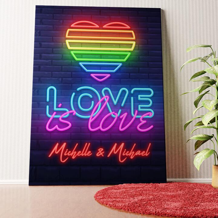 Personalisiertes Wandbild Love Is Love