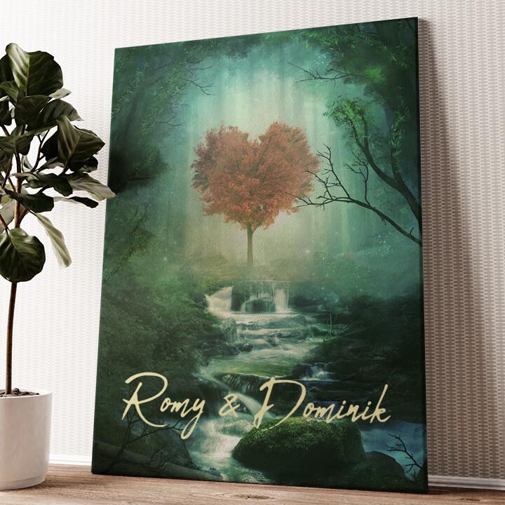 Mystic Love Wandbild personalisiert
