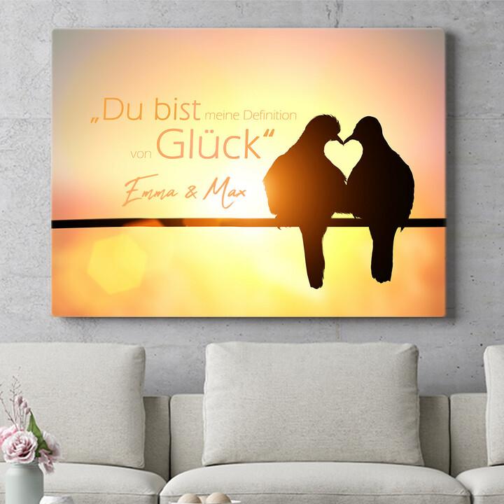Personalisierbares Geschenk Love Birds