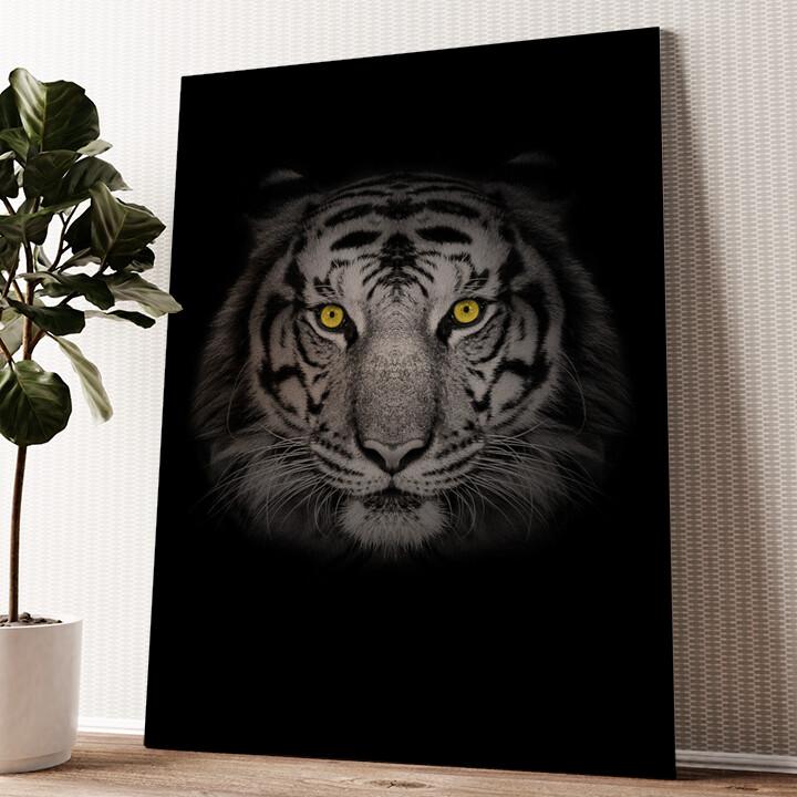 Tiger Wandbild personalisiert