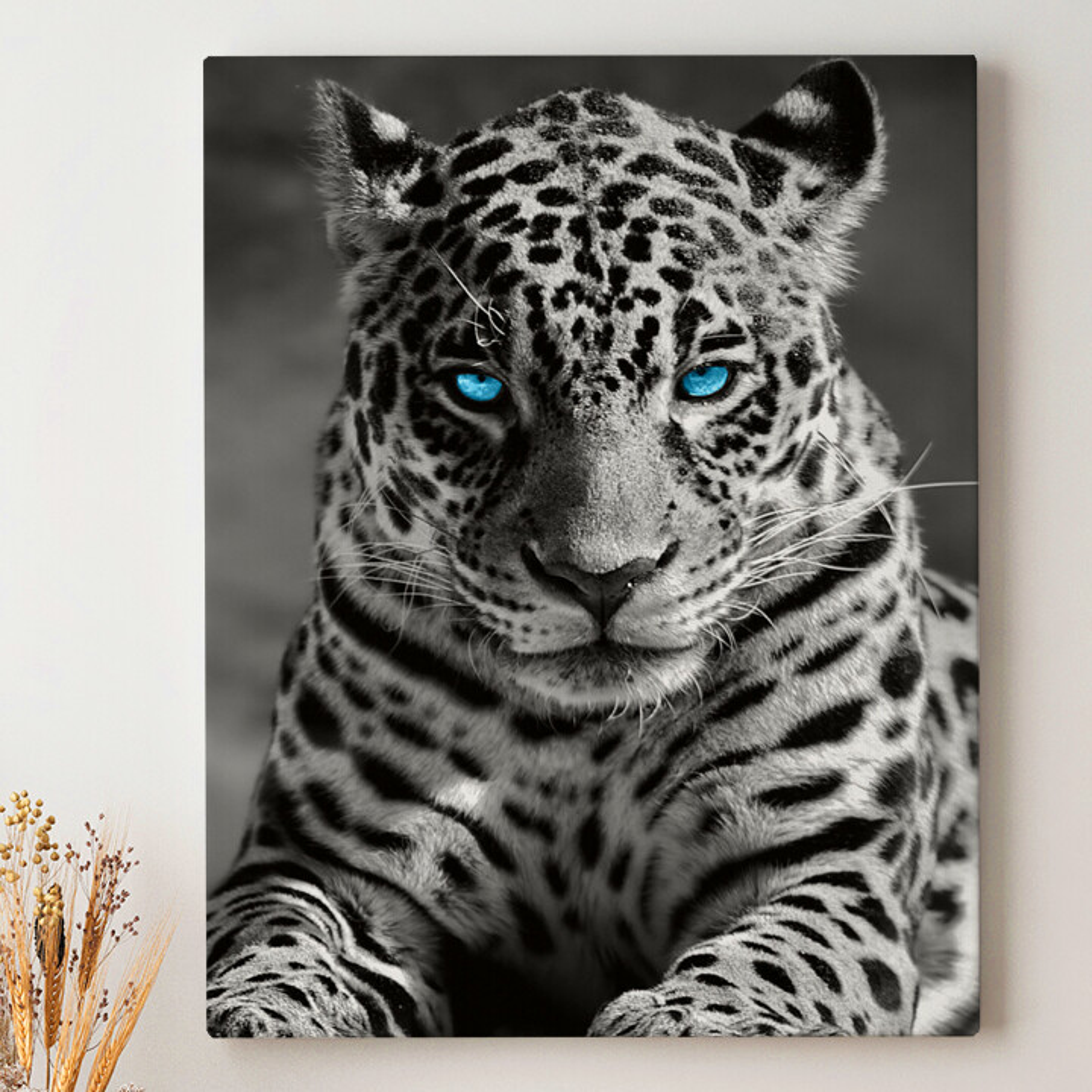 Leinwandbild personalisiert Leopard