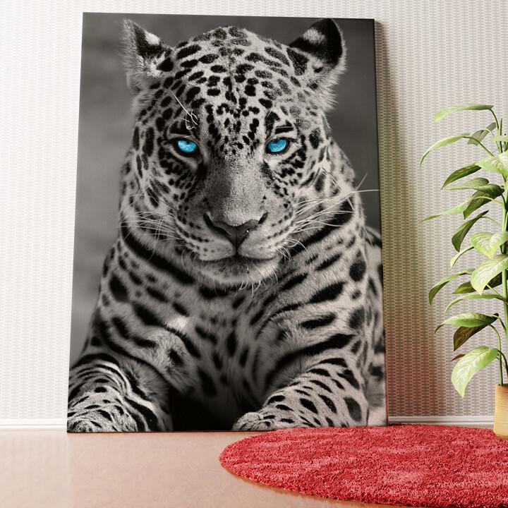 Personalisiertes Wandbild Leopard