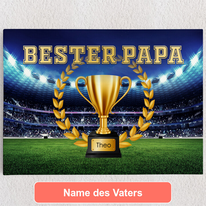 Personalisiertes Leinwandbild Bester Papa