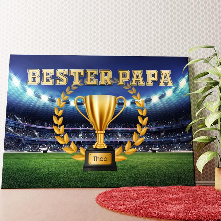 Personalisiertes Wandbild Bester Papa