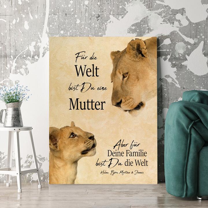 Personalisierbares Geschenk Löwenmutter 2