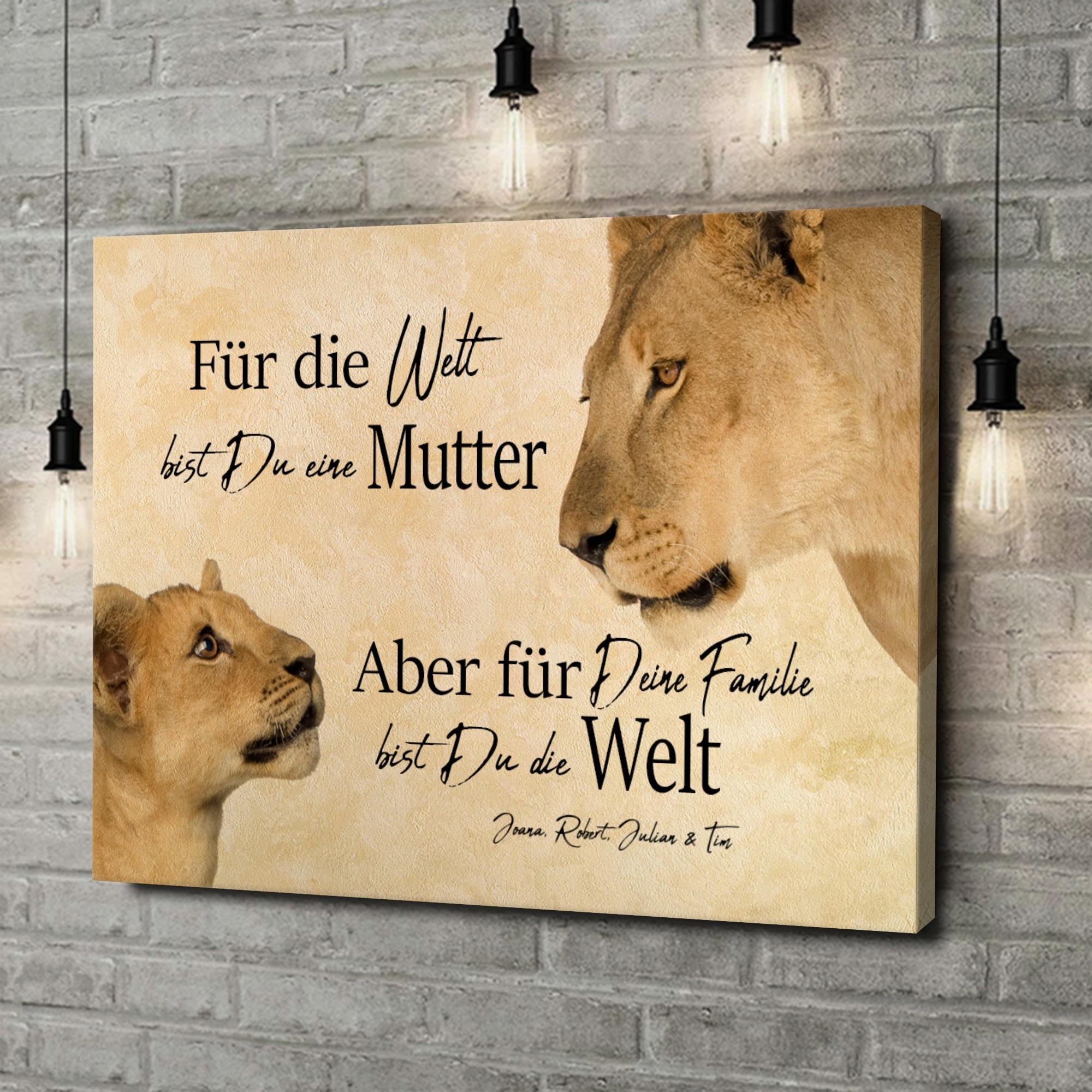 Leinwandbild personalisiert Löwenmutter 2 (Querformat)