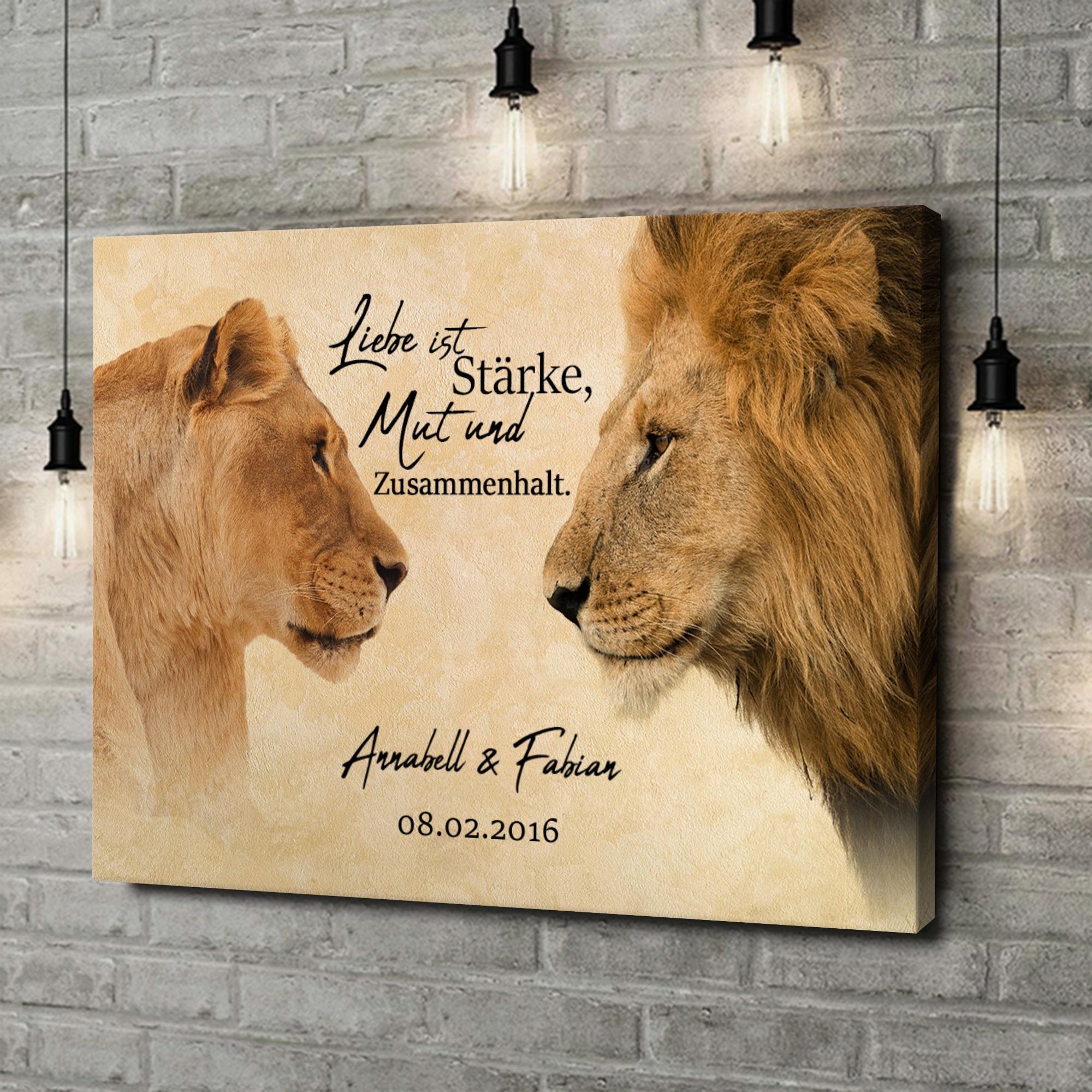 Leinwandbild personalisiert King & Queen