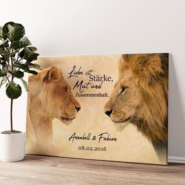 King & Queen Wandbild personalisiert