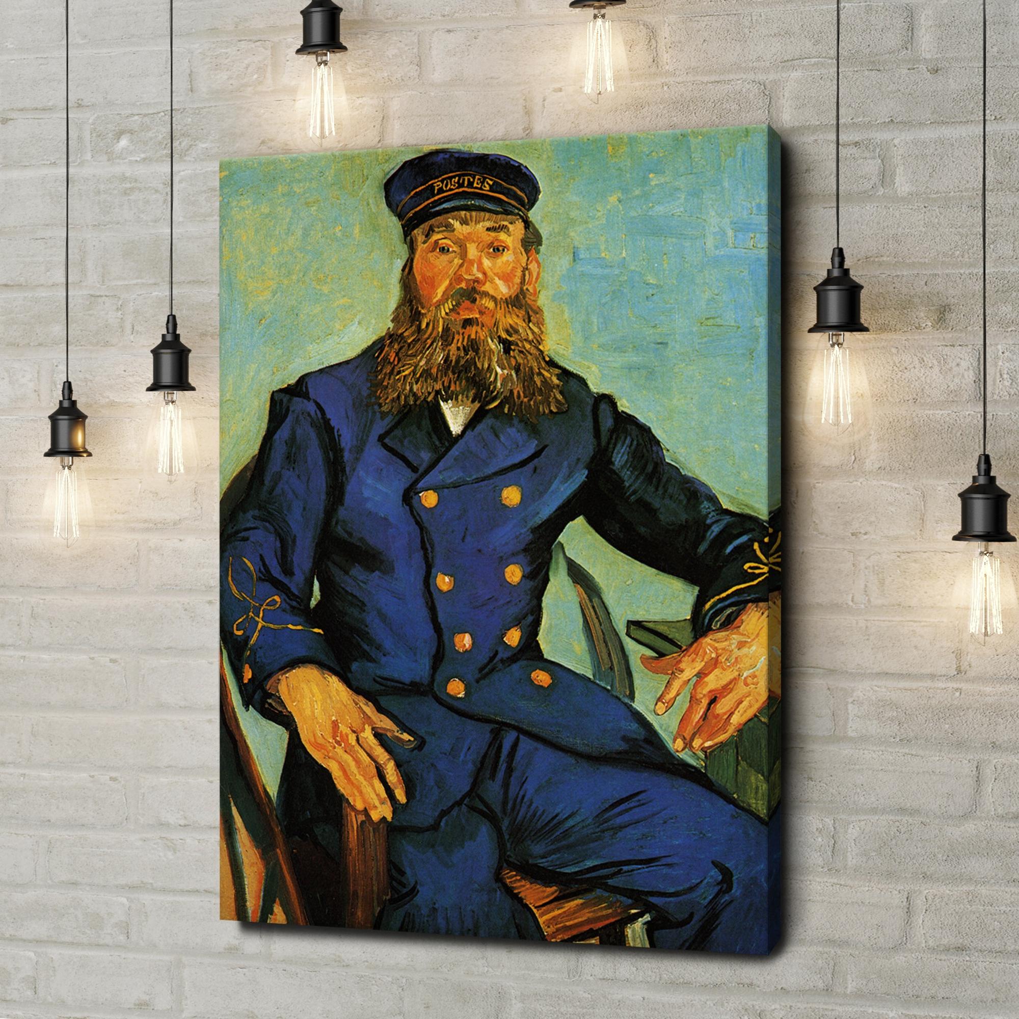 Leinwandbild personalisiert Portrait des Briefträgers