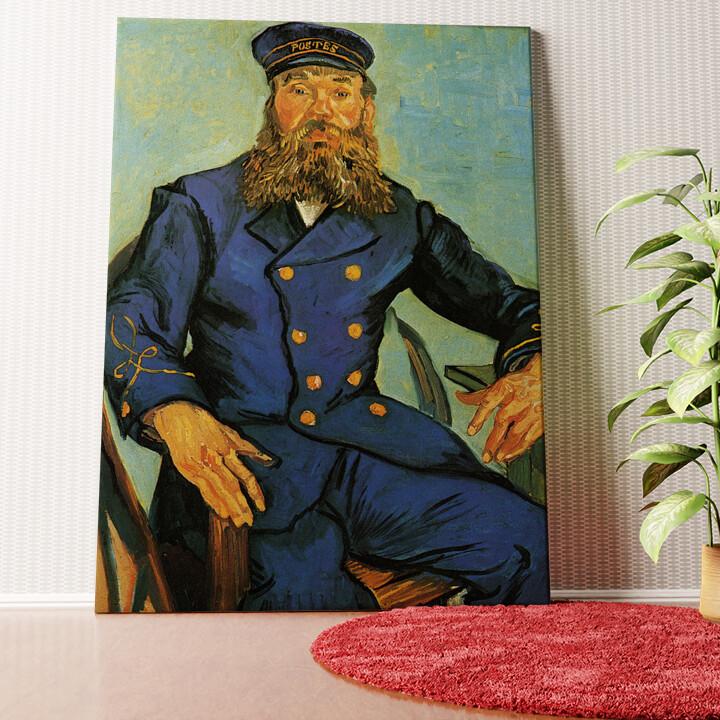 Personalisiertes Wandbild Portrait des Briefträgers