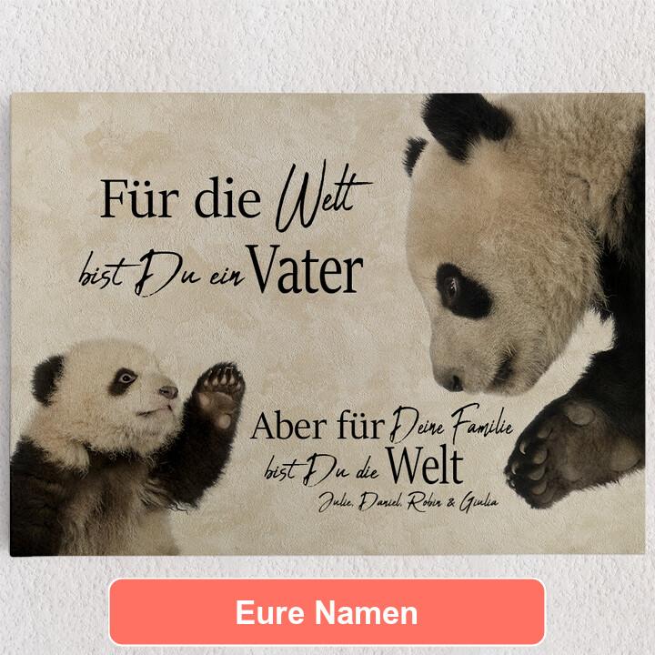 Personalisiertes Leinwandbild Pandavater