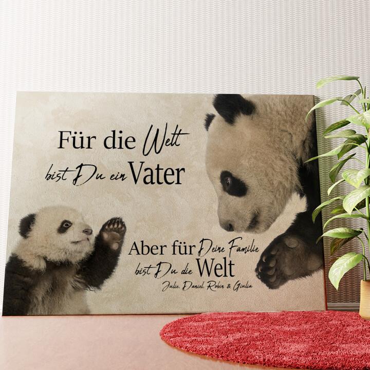 Personalisiertes Wandbild Pandavater