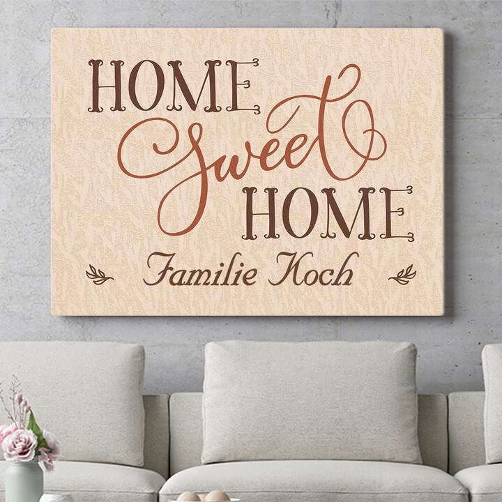 Personalisierbares Geschenk Home Sweet Home