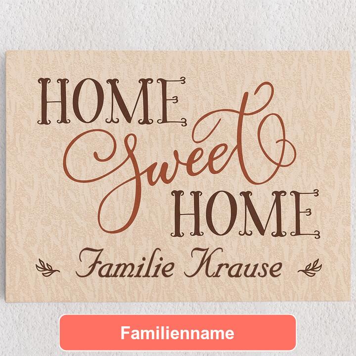 Personalisiertes Leinwandbild Home Sweet Home