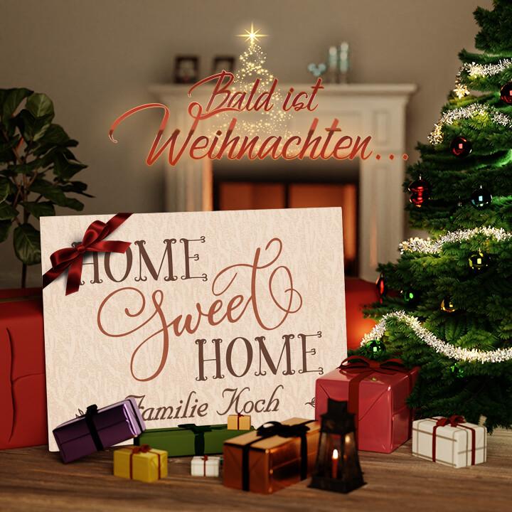 Liebesleinwand zu Weichnachten Home Sweet Home