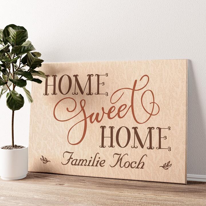 Home Sweet Home Wandbild personalisiert