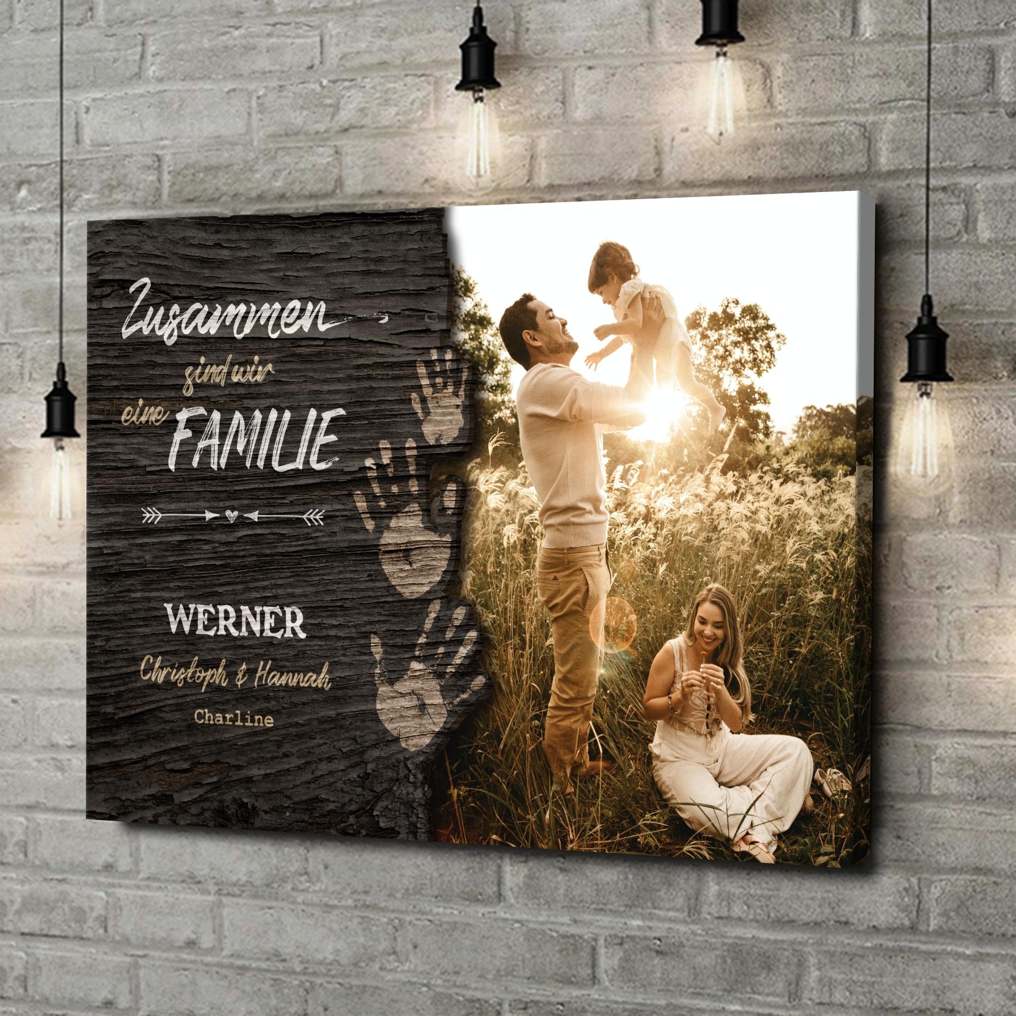 Leinwandbild personalisiert Unsere Familie