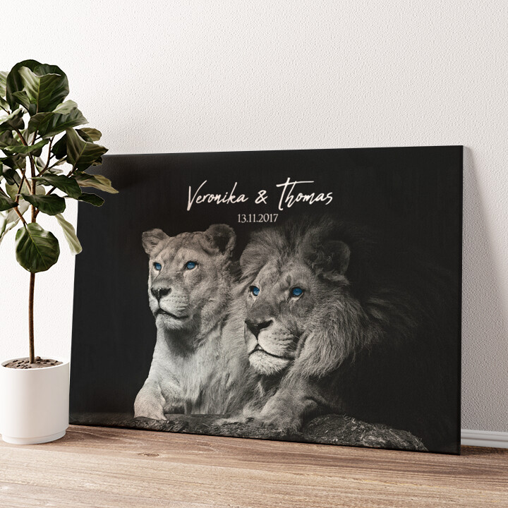 Wild Love Wandbild personalisiert
