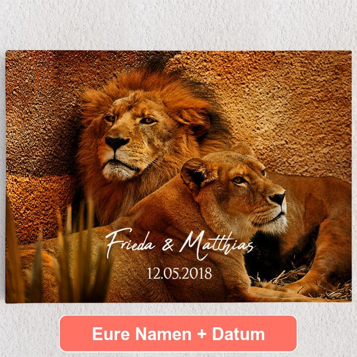 Personalisiertes Leinwandbild Treueschwur