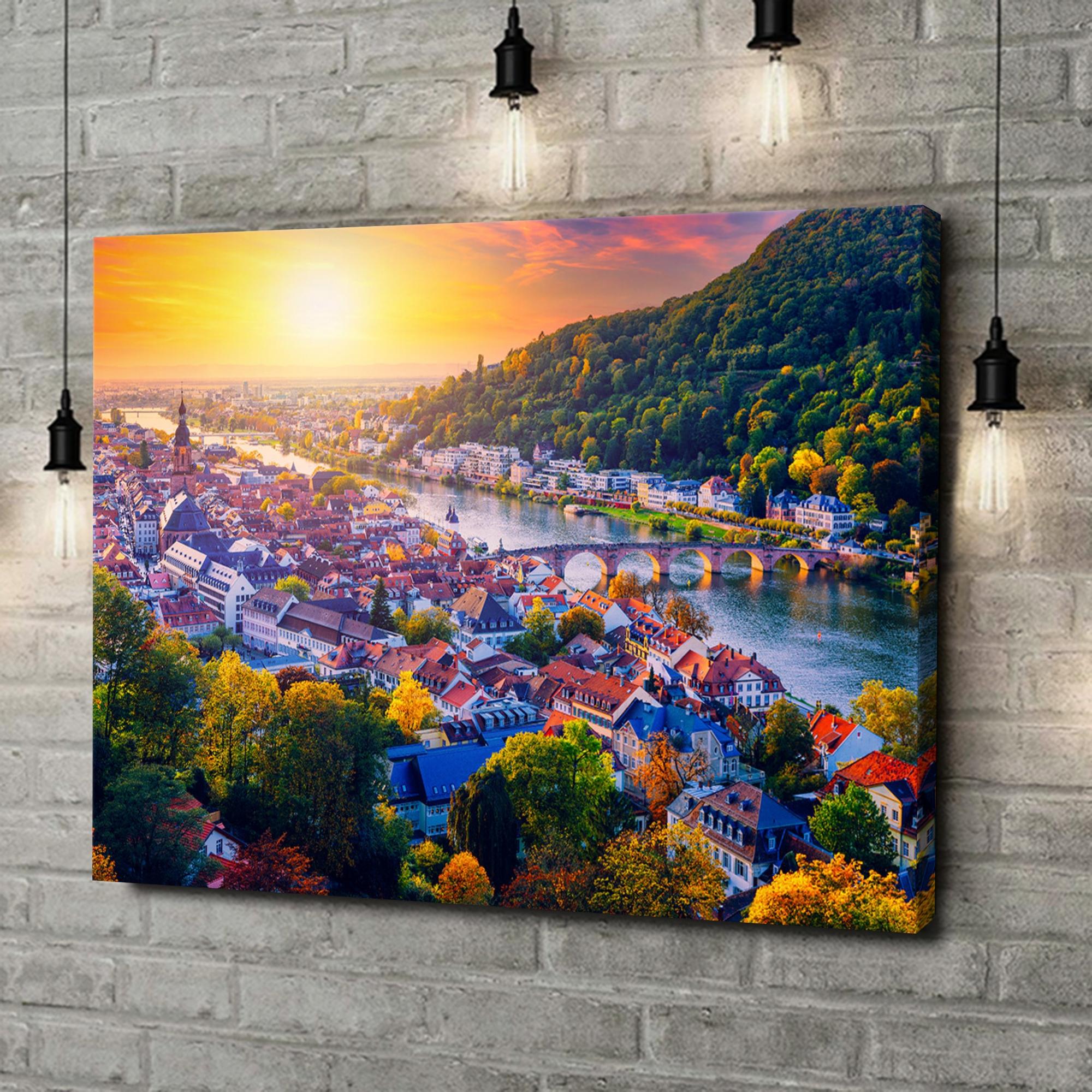 Leinwandbild personalisiert Skyline Heidelberg