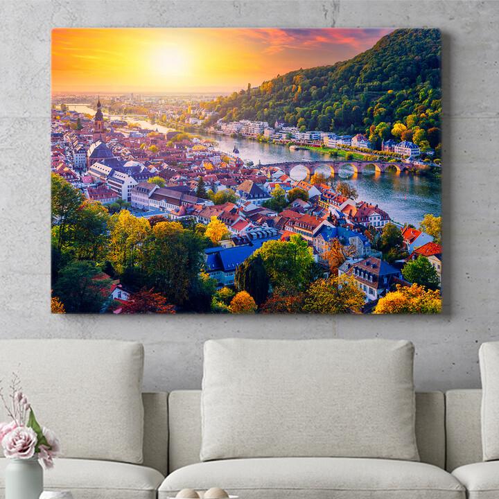 Personalisierbares Geschenk Skyline Heidelberg
