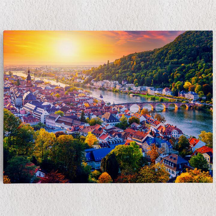Personalisiertes Leinwandbild Skyline Heidelberg