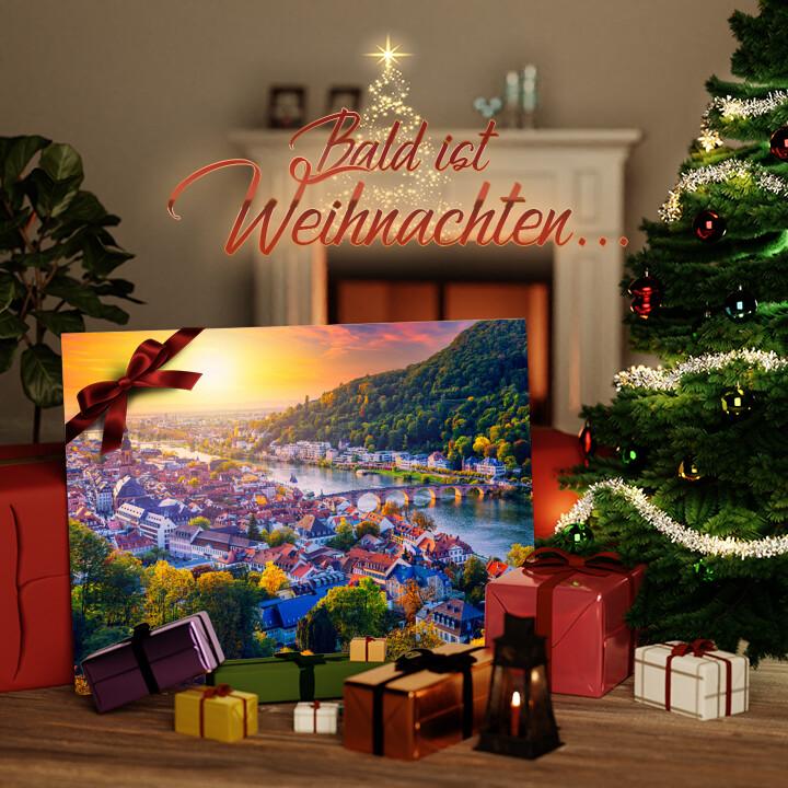 Liebesleinwand zu Weichnachten Skyline Heidelberg