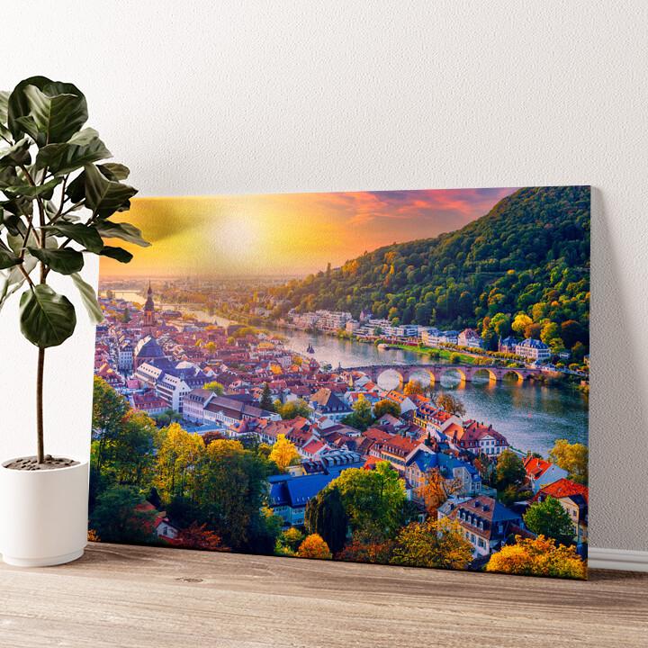Skyline Heidelberg Wandbild personalisiert
