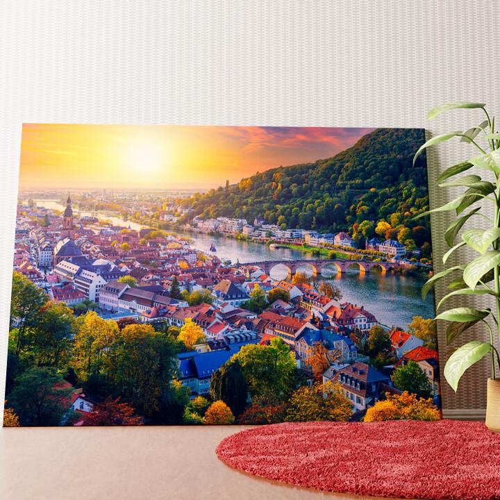Personalisiertes Wandbild Skyline Heidelberg